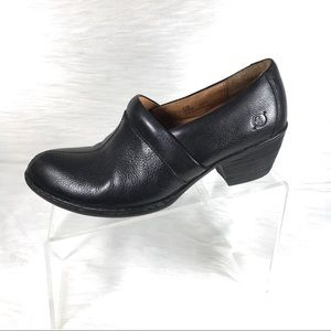 Born Booties Black Leather Size 8.5 M